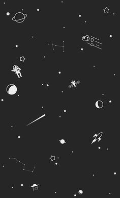 Outer space print by trae mikal, via behance space phone wallpaper, galaxy wallpaper iphone