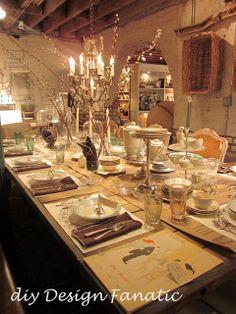 diy Design Fanatic: Paris Market Tablescape