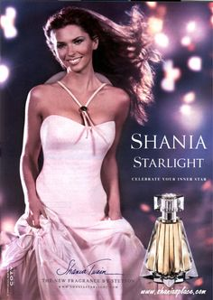 oh the 90's. Thank you Pinterest for reminding me this happened  Starlight perfume by Shania Twain