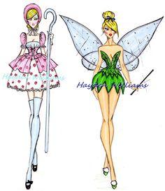 Ilustrações de moda da Disney                                                                                                                                                                                 Mais