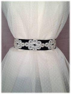 Mai Belt, from our Something New collection - Bright Wedding Crystal Beaded Satin or Ribbon Sash, Bridal Belt, Rhinestone Sash by SomethingTreasured8, $150.00