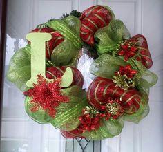 Christmas Mesh Wreath