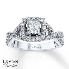Le Vian Chocolate Diamond Rings   Kay - Le Vian Bridal Ring 1 1/4 ct tw Diamonds 14K Vanilla Gold