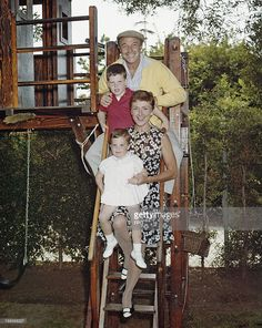 American actor, dancer and singer Gene Kelly (1912 - 1996) with his wife Jeanne Coyne (1923 - 1973) and their children Tim and Bridget, circa 1968.