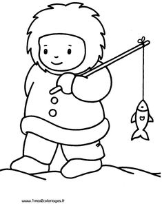 Eskimo Winter Sketch Coloring Page Winter Crafts For Kids, Winter Kids, Winter Art, Polo Norte, Coloring Sheets, Coloring Books, Coloring Pages, Winter Thema, Artic Animals