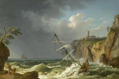 Jacob Philipp Hackert - Ein Schiffbruch (1776) - Category:Paintings of ships in distress - Wikimedia Commons