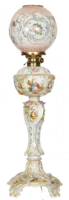 Frivolous Fabulous - Romantic Meissen Table Lamp for Reading Late into the Night Frivolous Fabulous Warm and Cozy