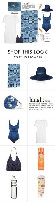 """One piece swinsuit- Ocean blue"" by mfpblau ❤ liked on Polyvore featuring Essenza, Lola, Gottex, La Perla, Mar y Sol, Alterna, Dot & Bo, Aveeno and Melissa"