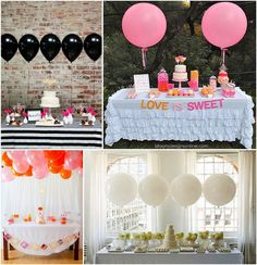 ballons table buffet