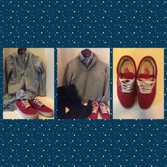 Red authentic Vans Great condition! Vans Shoes Sneakers