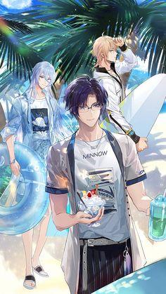 Romantic Anime Couples, Cute Anime Couples, Handsome Anime Guys, Hot Anime Guys, Anime Character Drawing, Character Art, Anime Glasses Boy, Anime Prince, Anime Summer