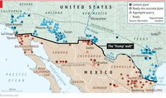 """{    THE ECONOMICS OF DONALD TRUMP'S WALL    } #TheEconomist .... """"DONALD TRUMP is a man of ideas. Although critics have lambasted him for flip-flopping on some policies (he now proposes to ban immigrants from """"terrorist nations"""" rather than all Muslims), Mr Trump has stood firm on at least one proposal: his wall. A new report from Bernstein Research looks at the economics of the wall's construction.""""…"""