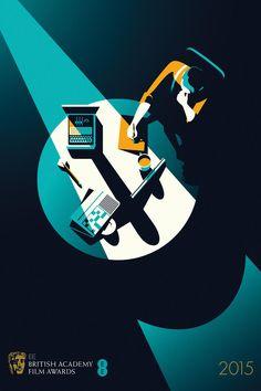 BAFTA 2015. The imitation game (2014). Illustration by: Malika Favre. | BAFTA 2015. O jogo da imitação (2014). Ilustração de: Malika Favre.