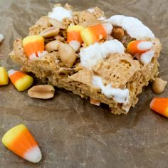 Cereal squares with a peanutty Fall twist! #MyAllRecipes