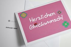 Karte Geburtstag Glückwunschkarte von liduno auf DaWanda.com Etsy, Cordial, Glee, Birthday, Cards