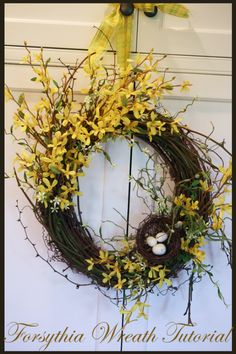 just in time for spring -- a forsythia wreath tutorial!  :)