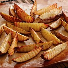 Potato Wedges - These show-stopping sides might outshine the turkey. Browse over 150 of our favorite side dish recipes here.biz/JenGrimes, Jen Grimes, Independent Consultant with The Pampered Chef, Schaumburg, IL