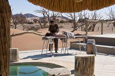 African safari holidays, team building experiences and wildlife photography experiences accommodation Little Kulala, Sosussvlei, Namibia. Safari Holidays, Game Reserve, Photography Courses, African Safari, Wildlife Photography, Lodges, Tours, Patio, Explore