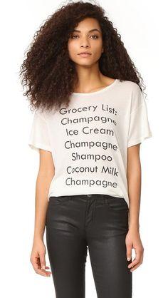 Wildfox Grocery List Tee