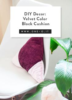 diy velvet triangle cushion throw pillow pin