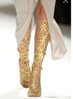 Cheap designer knee high boots, Buy Quality knee high boots directly from China high boots Suppliers: MIQUINHA 2017 New Zapatos Sandalias Mujer Feminina Designer Boots Botas Mujer Winter Cut-outs Knee High Boots Shoes Women Boots Crazy Shoes, Me Too Shoes, Mode Shoes, Gold Sandals, Gold Heels, Gold Boots, Strappy Sandals, Leather Sandals, Women's Sandals