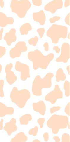 Pastel aesthetic orange cow wallpaper