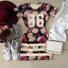 Vestido no Neoprene  86 ( Estampa Flores )