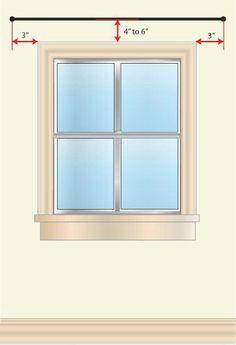 ideas bedroom window coverings hanging curtains tips Hanging Curtains, Curtains With Blinds, Drapes Curtains, How To Hang Curtains, Sewing Curtains, Bedroom Curtains, Valances, Curtains In Living Room, Curtain Ideas For Living Room