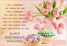 195 best happy birthday wishes messages images on pinterest best happy birthday wishes message to my sister with images http m4hsunfo