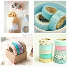 A collection of ways on how to use washi tapes