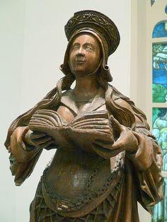 Saint Elizabeth, detail Niederrhein,1500-1525 Eiche Cologne Schnutgen Museum
