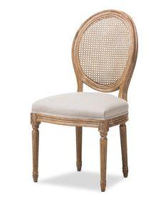 Vintage Adelia Wood & Linen Accent Chair #zulily #zulilyfinds