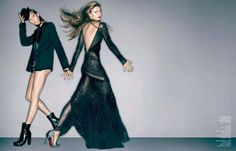 """Black Night"" : Karlie Kloss : Vogue China December 2012 : Sølve Sundsbø"
