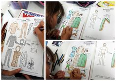 Middle ages paper dolls