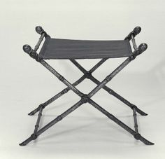 FOLDING STOOL  Wrought iron  Byzantine ?; 12th century ? Simillar types appear in Byzantine manuscripts.