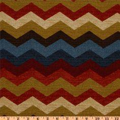 SALE  Multi Color Chevron Fabric  Waverly Panama Wave by FabricHQ