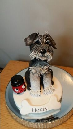 Polymer clay miniature schnauzer by cotswold Characters