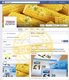 According to a Facebook Page that calls itself 'Tesco Game' and features the Tesco logo, you can win a £500 Tesco voucher just by sharing a post from the Page.