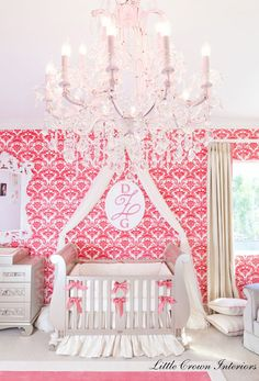 This nursery is absolutely STUNNING! Fit for a princess
