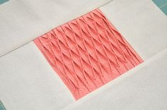 Block 16: Smocked tucks – Textured quilt sampler | Sewn Up by TeresaDownUnder
