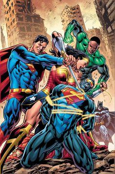 Online Comic Books, Comic Books Art, Comic Art, Book Art, Mongul Dc, Gotham High, Dragon Comic, Strange Adventure, Superman Art