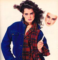 Brooke Shields Jeanswear Collection, Seventeen magazine, August 1985.