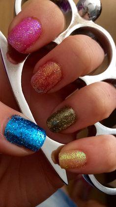 My glitter nails