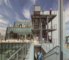 Whitney Museum of American Art, New York | Renzo Piano | The outdoor areas offer external exhibition and performance spaces | image © nic lehoux