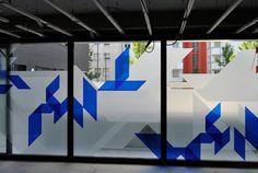 Vitrophanie Glass Sticker Design, Glass Film Design, Office Graphics, Window Graphics, Environmental Graphics, Environmental Design, Corporate Interiors, Office Interiors, Window Design