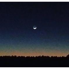 The moon at dusk from Liliedahl Rd.,  #deridder #derriderlouisiana #dusk #fortpolk #fortpolklouisiana #fortpolk #leesville #leesvillelouisiana