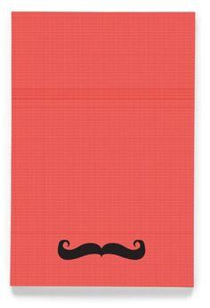 "WORKBOOKS :: Moustache 4x6"" workbook - Ecojot - eco savvy paper products"