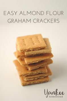This homemade Gluten-Free Graham Cracker recipe is easy to make and so tasty. These graham crackers are perfect for snacks and making yummy s'mores. Almond Flour Recipes, Gf Recipes, Low Carb Recipes, Real Food Recipes, Gluten Free Recipes, Cooking Recipes, Almond Flour Crackers Recipe, Coconut Flour, Crispy Crackers Recipe