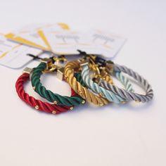 ● Pulseras de cordón de seda | Modelo Sofía | Diseño de OLVIDO MADRID   www.olvidomadrid.es