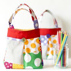 Bright Polka Dot Toddler Tote Children's Bag | wowthankyou.co.uk